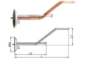 ТЭН для бойлера Thermex 1500 Вт 230 В на фланце 95 мм
