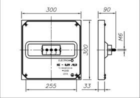 Конфорка чугунная КЭ-0.09 2500 Вт 220 В для профессиональной электрической плиты