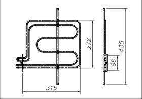 ТЕН 2200-2600 Вт 230 В до побутової духовки