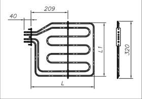 ТЕН 2200 Вт 230 В до побутової духовки
