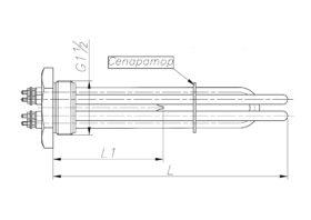 Блок-ТЕН 3000-10000 Вт 230/380 В до електричного котла опалення