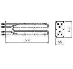 Блок-ТЕН 9000 Вт 230 В до професійного харчового котла ТМ Abat