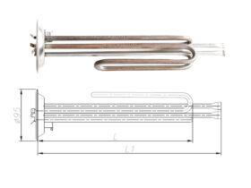 ТЕН до бойлера Thermex 2000-2500 Вт 230 В на фланці 95 мм