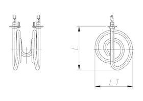 ТЕН 600-2000 Вт 230 В до канальної вентиляції